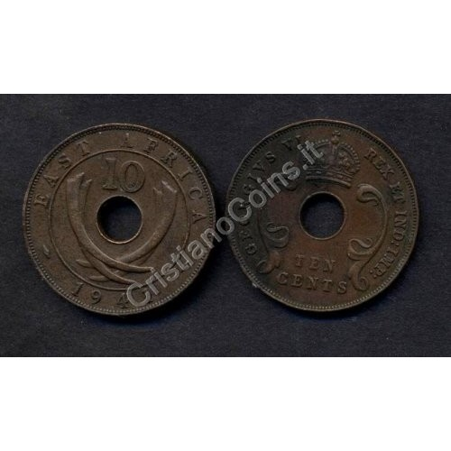 EAST AFRICA 10 Cents 1941 I...