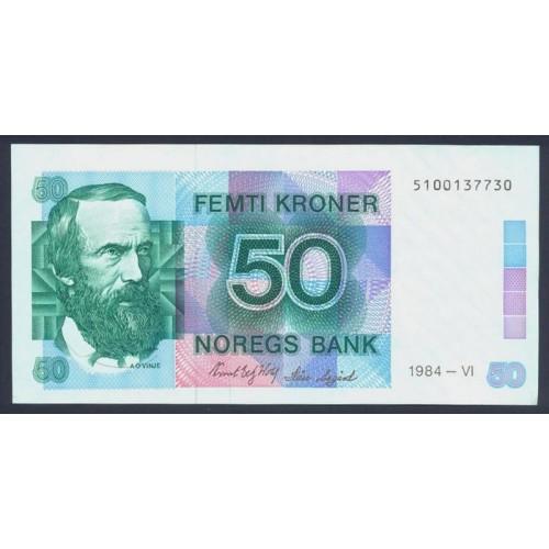 NORWAY 50 Kroner 1984