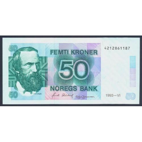 NORWAY 50 Kroner 1993