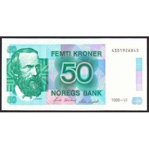 NORWAY 50 Kroner 1986