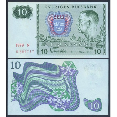 SWEDEN 10 Kronor 1979