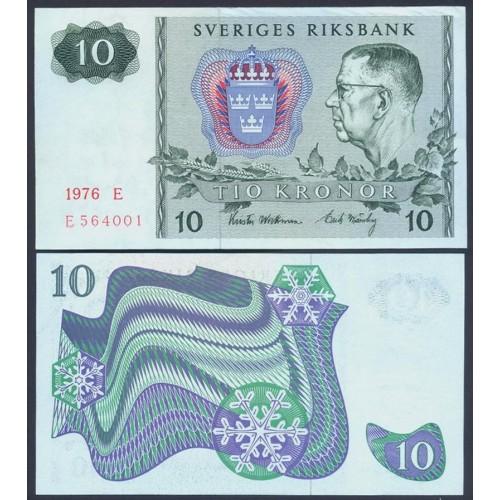 SWEDEN 10 Kronor 1976