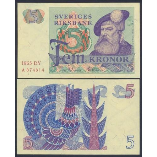 SWEDEN 5 Kronor 1965