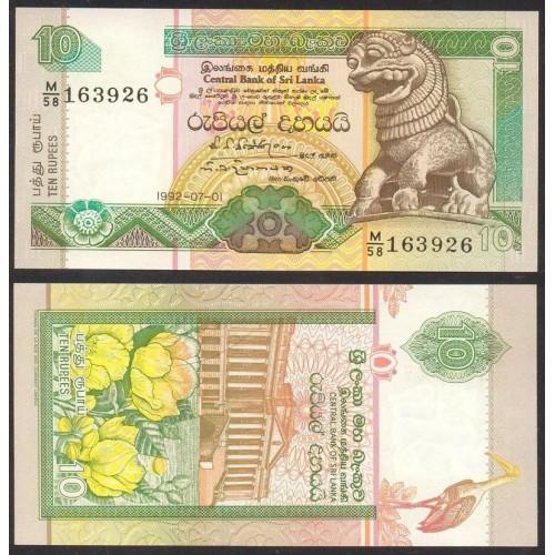 SRI LANKA 10 Rupees 1992