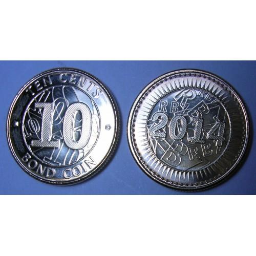 ZIMBABWE 10 Cents 2014