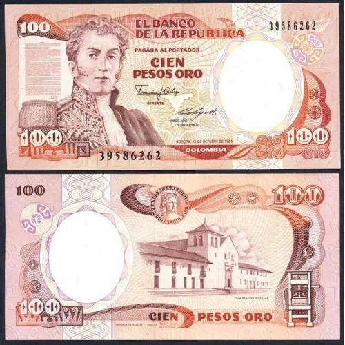 COLOMBIA 100 Pesos Oro...