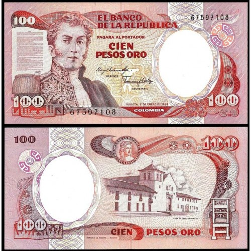 COLOMBIA 100 Pesos Oro 1983