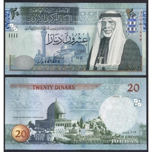 JORDAN 20 Dinars 2013