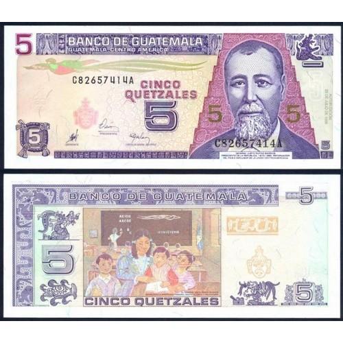 GUATEMALA 5 Quetzales 1998