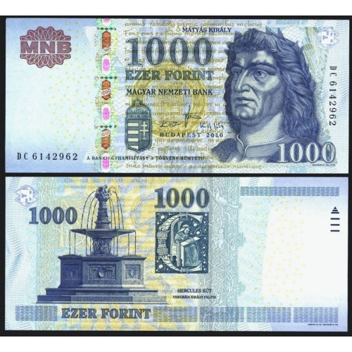 HUNGARY 1000 Forint 2010