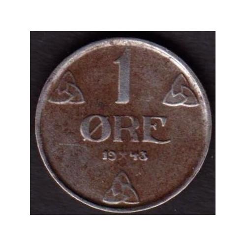 NORWAY 1 Ore 1943