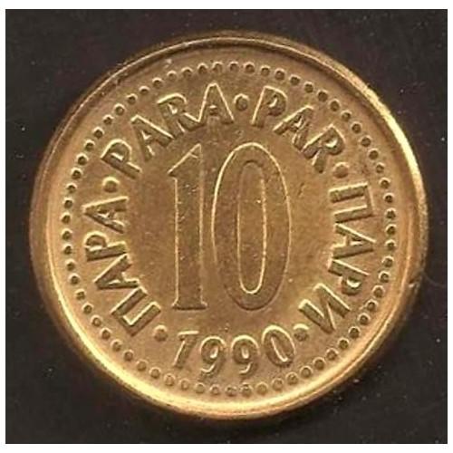 YUGOSLAVIA 10 Para 1990