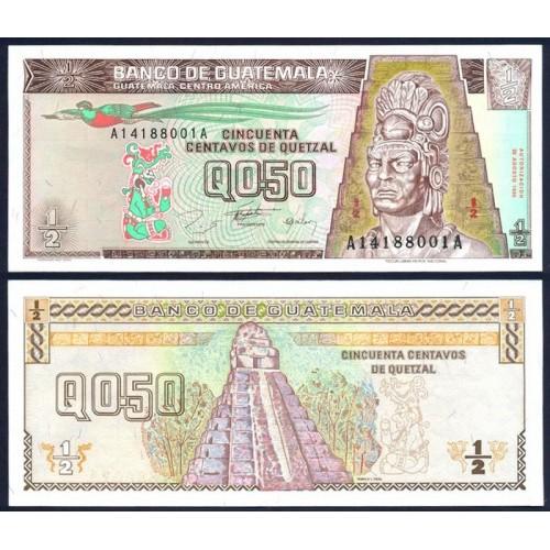 GUATEMALA 50 Centavos de...