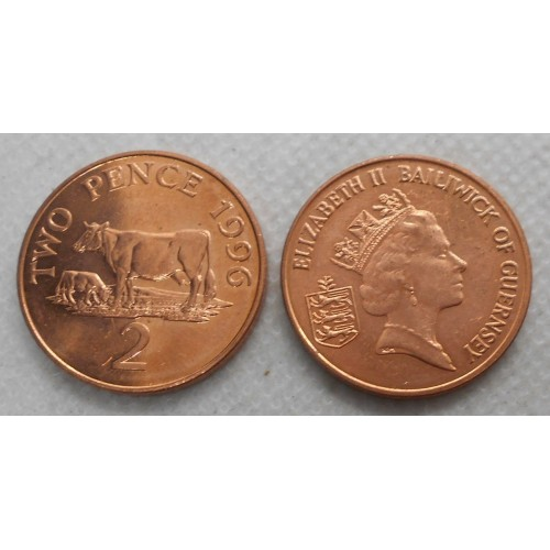 GUERNSEY 2 Pence 1996