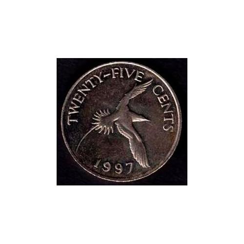 BERMUDA 25 Cents 1997