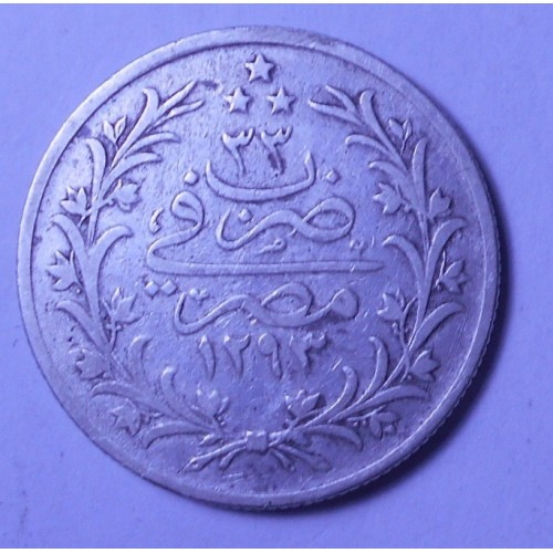 EGYPT 5 Qirsh AH 1293/33...