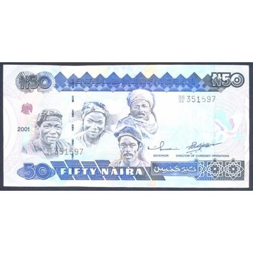 NIGERIA 50 Naira 2001