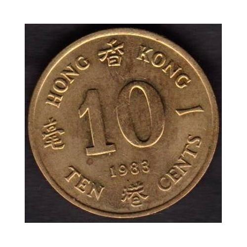 HONG KONG 10 Cents 1983