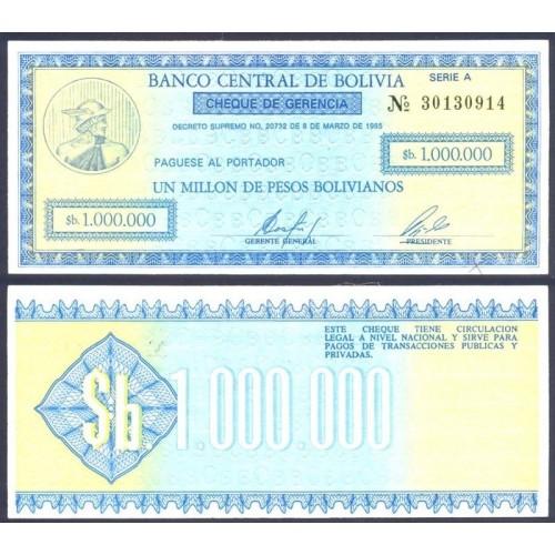 BOLIVIA 1.000.000 Pesos...