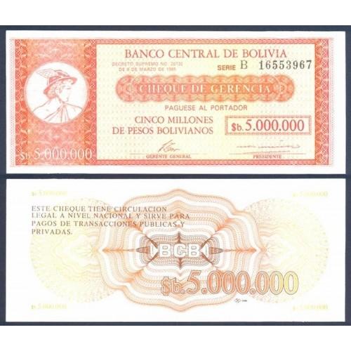BOLIVIA 5.000.000 Pesos...