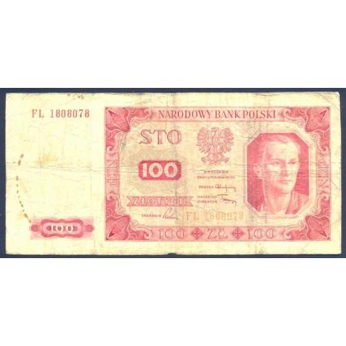 POLAND 100 Zlotych 1948
