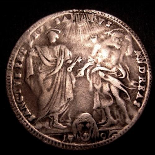 PIO VI Testone 1796 A. XXII AG
