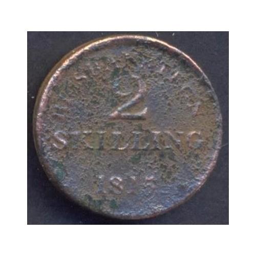 DENMARK 2 Skilling 1815