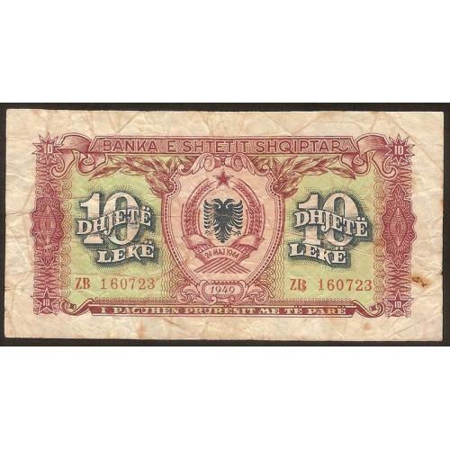 ALBANIA 10 Leke 1949