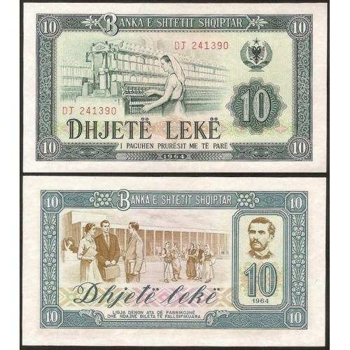 ALBANIA 10 Leke 1964