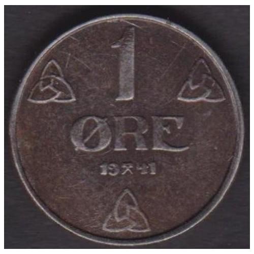 NORWAY 1 Ore 1941 IR