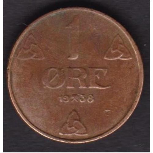 NORWAY 1 Ore 1938
