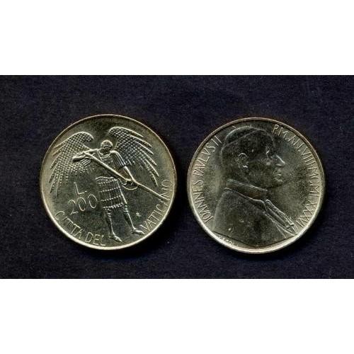 VATICANO 200 Lire 1986