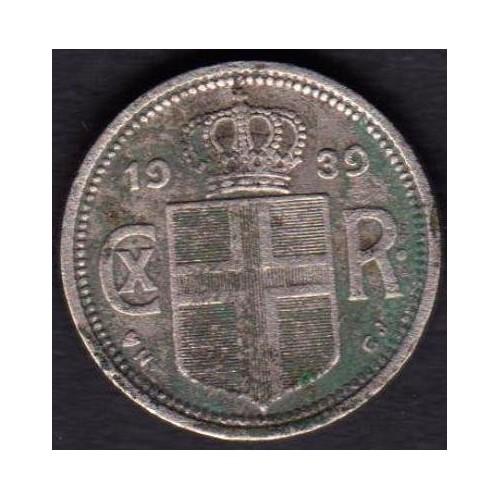 ICELAND 10 Aurar 1939