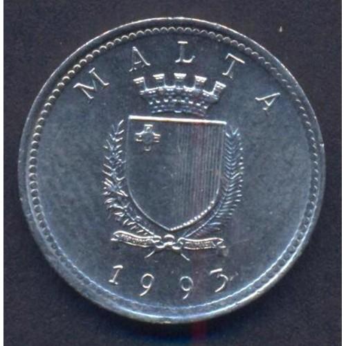 MALTA 2 Cents 1993