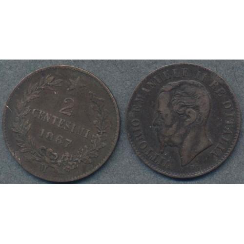 2 Centesimi 1867 M