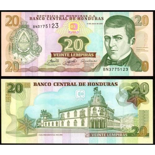 HONDURAS 20 Lempiras 2006
