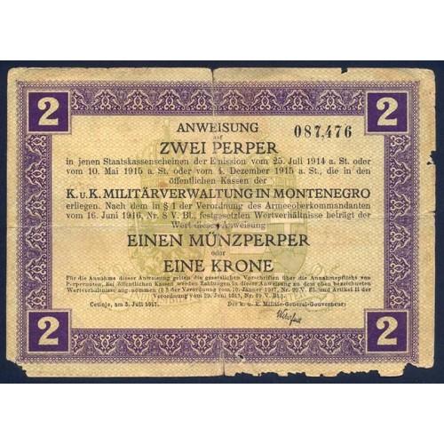 MONTENEGRO 2 Perper 1917
