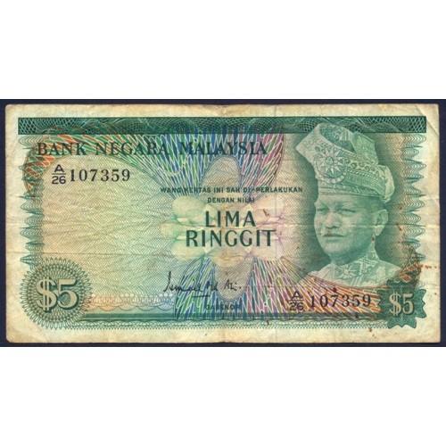 MALAYSIA 5 Ringgit 1967/72