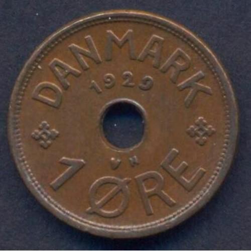 DENMARK 1 Ore 1929