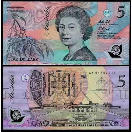 AUSTRALIA 5 Dollars 1992