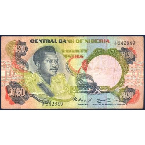 NIGERIA 20 Naira 1977/84