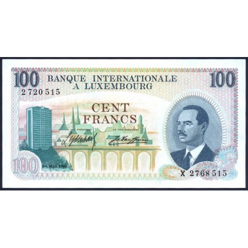 LUXEMBOURG 100 Francs 1968