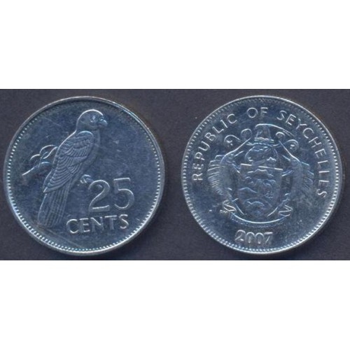SEYCHELLES 25 Cents 2007