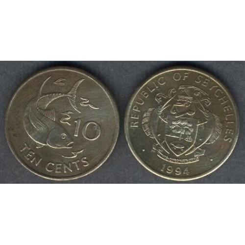 SEYCHELLES 10 Cents 1994