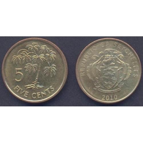 SEYCHELLES 5 Cents 2010