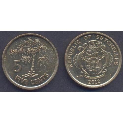 SEYCHELLES 5 Cents 2012