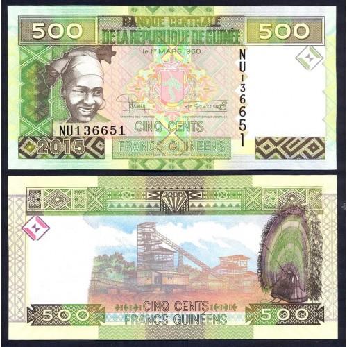 GUINEA 500 Francs 2015