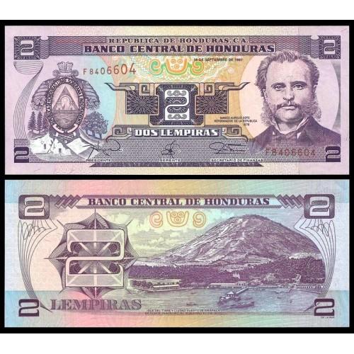 HONDURAS 2 Lempiras 1997