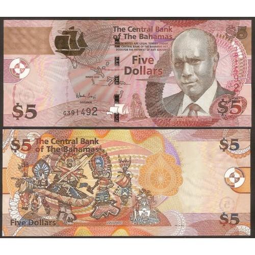 BAHAMAS 5 Dollars 2013