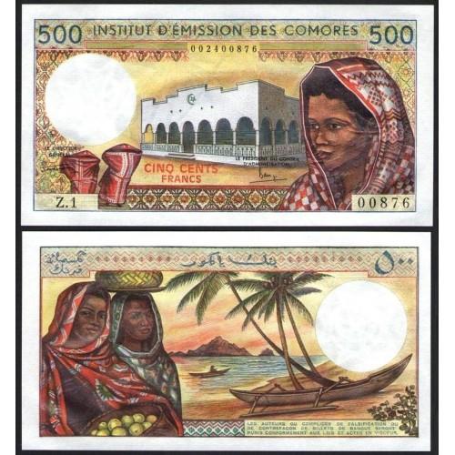 COMOROS 500 Francs 1976